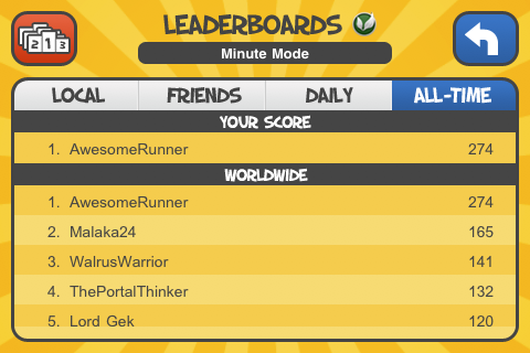 screenshot leaderboards